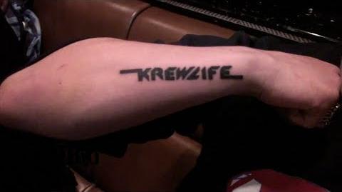 """""""Krewlife"""" Tour Tattoos"""