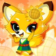 Animal Fox Sunflower