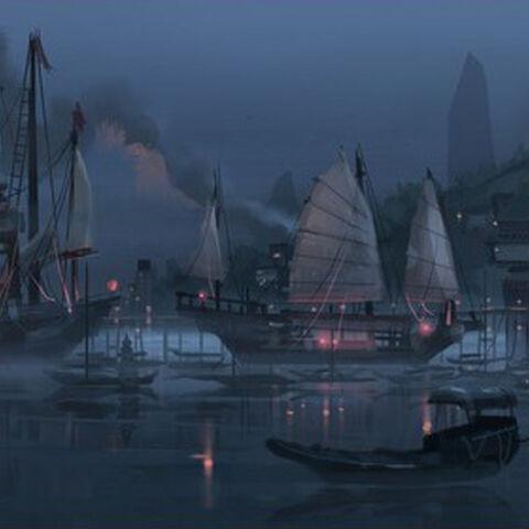 Concepto del puerto, por Chris Brock.