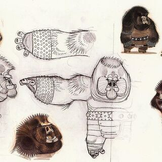 Concept illustrations of gorillas by Nico Marlet
