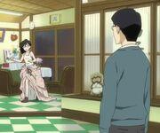 Shuu walks in on Tsukimi half undressed