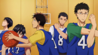 Hyuga with second years against freshmen anime