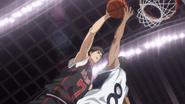 Kiyoshi goes for a dunk