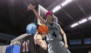 Akashi moves on to block Kuroko