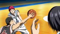 Akashi's pass is intercepted