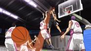 Kagami blocks Himuro shot