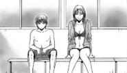 Kuroko and Momoi at the pool