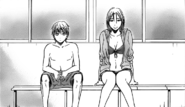Kuroko and Momoi at the pool