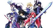 Anime key visual main characters
