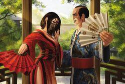 Jiro bargaining an alliance with Kameyoi