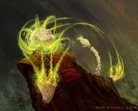 Sezaru becoming the Mystic