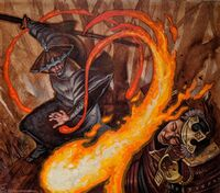 Aneo fighting a samurai