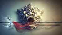 Heavenly Jumonji-yari of the Lion