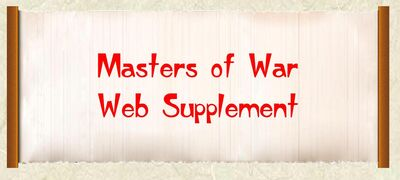 Masters of War Web Supplement