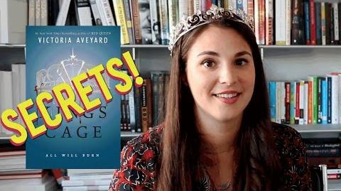 Red Queen Series King's Cage SECRETS! with Victoria Aveyard