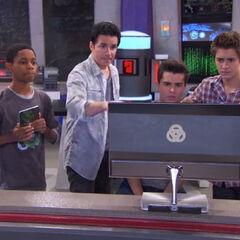 Everyone looking at the computer