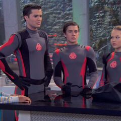 Adam, Bree and Chase in their new mission suits