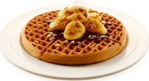 Waffle with Caramel Banana.