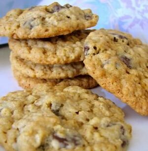 Soy chocolate chip oa coconut cookies