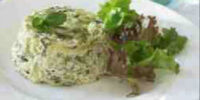 Courgette and Mint Flan