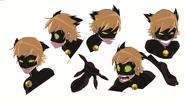 Cat Noir Expression concept art