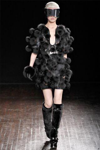 File:Alexander McQueen Fall Winter 2012 Fur Pom Pom Laser Cut Dress.jpg
