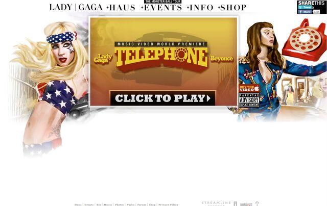 File:Official website - Telephone Video.jpg