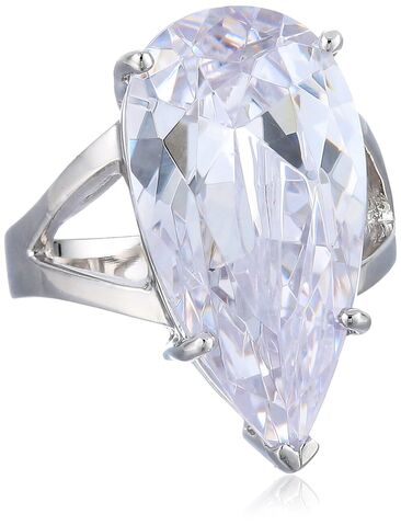 File:CZ by Kenneth Jay Lane - ''Special Occasion'' elongated pear cubic zirconia split shank ring.jpg
