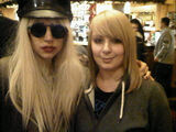 12-04-2009 Lady gaga with fan in pub