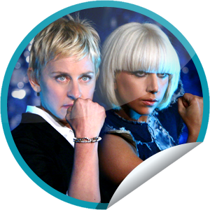 File:GetGlue Stickers - Lady Gaga on Ellen on 4.28.09.png