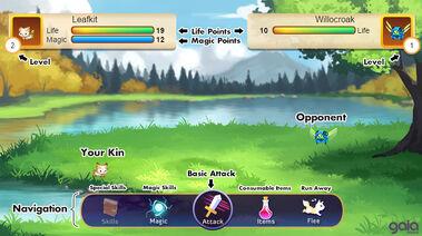 Kin battle screen