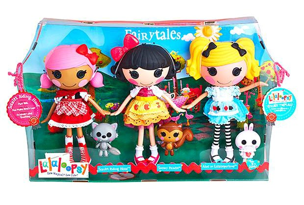 File:Alice in Lalaloopsyland, Scarlet Riding Hood & Snowy Fairest - large core dolls - Fairytales 3-pk.jpg