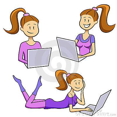 File:Funny-cartoon-girl-types-laptop-set-23869538.jpg