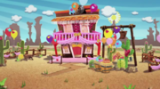 Prairie's saloon (decorated)
