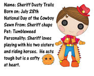 Sheriff dusty trails