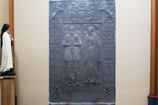 Bestand:Parochiekerk Sint-Ursula (Lanaken) Grafmonument van Heer Hendrick de Merode en Françoise van Brederode.JPG