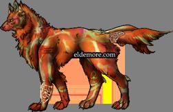 Antique Metal Dire Wolves1