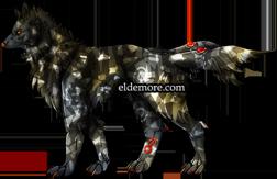 Antique Metal Dire Wolves3