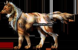 Antique Metal Dire Wolves7