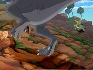 Grey Sharptooth rammed by Cera