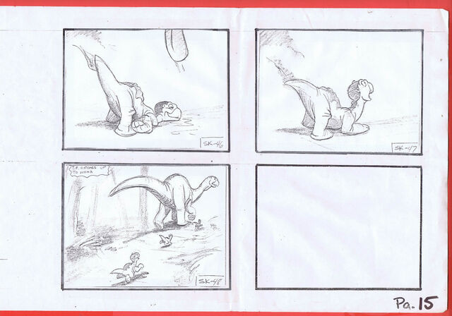 File:The Land Before Time 1988 Production Storyboard Copy Page 15 DON BLUTH -SH015.jpg