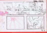 The Land Before Time 1988 Production Storyboard Copy Page 1 DON BLUTH -SH001