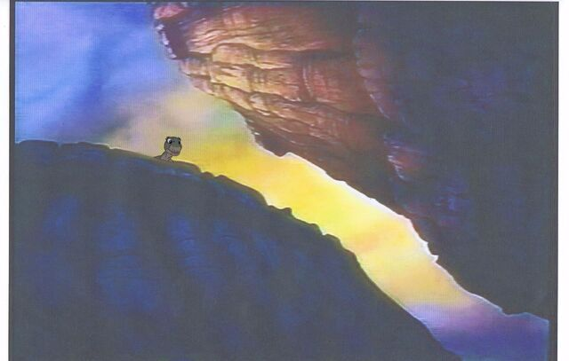 File:Land Before Time Original Production LITTLEFOOT Cel & Copy Bkgd -A038.jpg