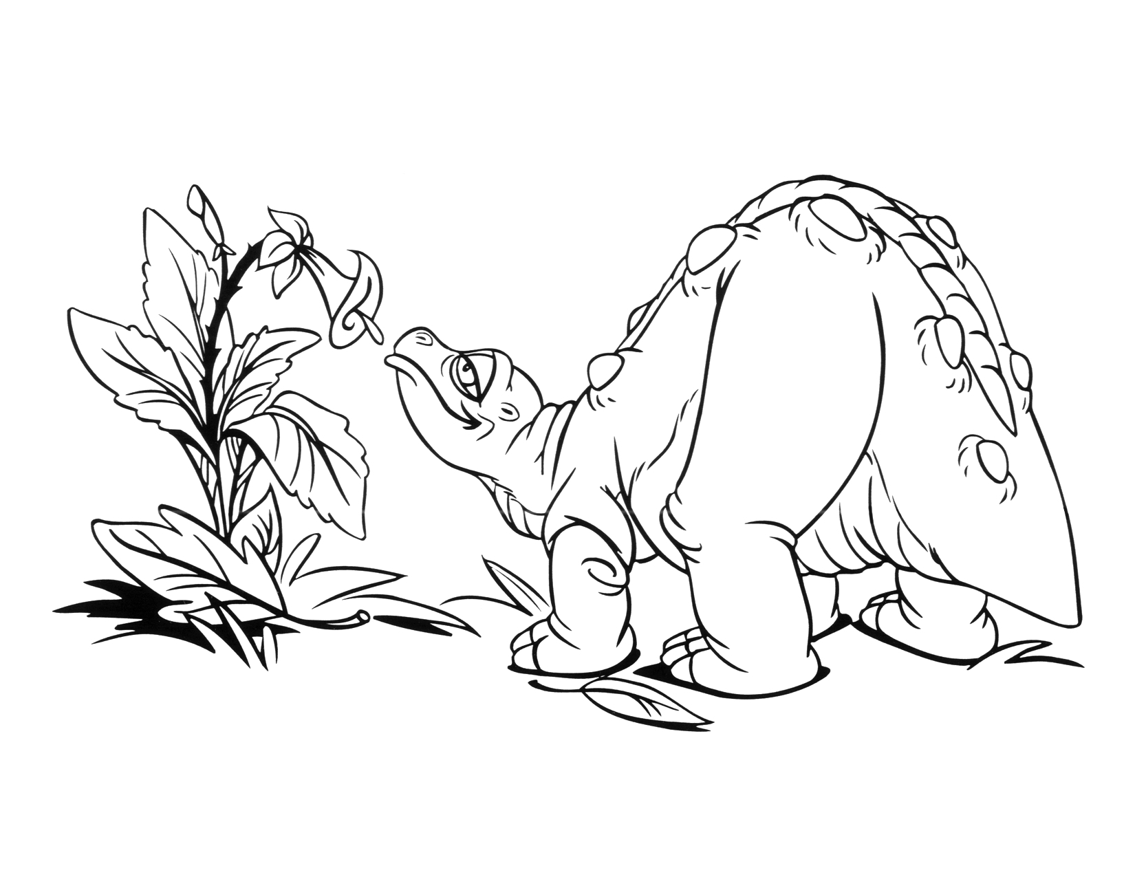 Image Coloring page 1 movie 9png Land Before Time Wiki