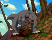 Cool Gray Sharptooth after Littlefoot and Cera