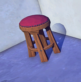 Wooden Stool prop placed