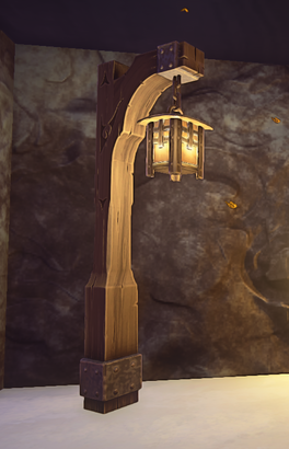 Iron Lamp Post prop placed