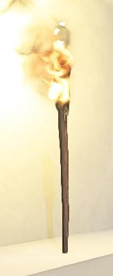 Landmark Standing Torch prop placed