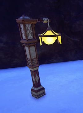 Landmark Ornate Kerran Lamp Post prop placed