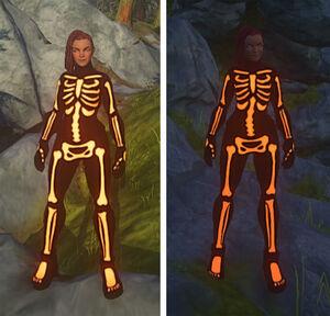 Skeletal-body-suit-orange